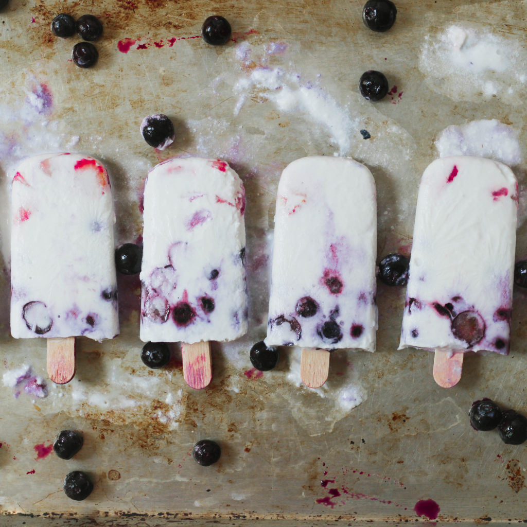 Coconut Mixed Berry Popsicles