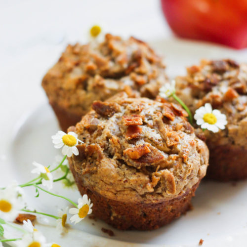 Paleo Apple Muffins with Bacon