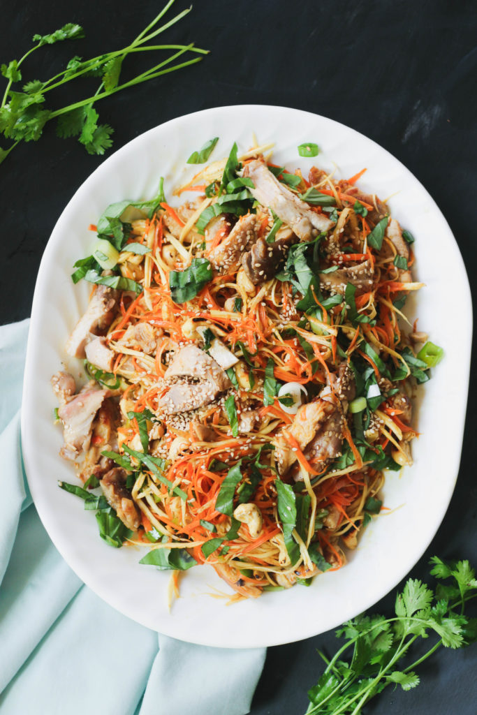 Paleo Asian Chicken Noodle Salad
