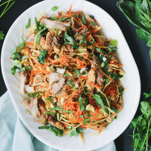 "Paleo Asian Chicken ""Noodle"" Salad [Video]"