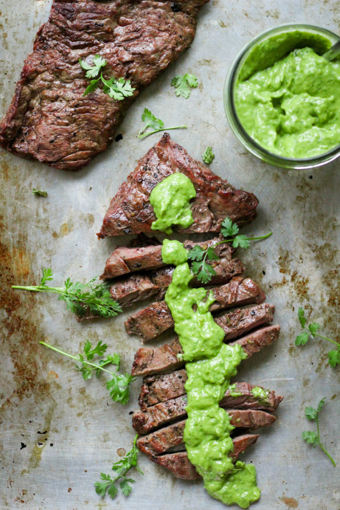 Paleo Skirt Steak with Chimichurri Sauce