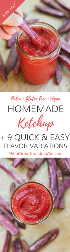 Homemade Paleo Ketchup (Gluten Free, Vegan)
