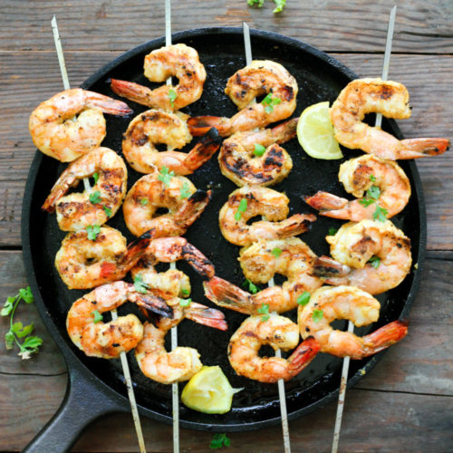 Grilled Lemon Curry Shrimp Skewers