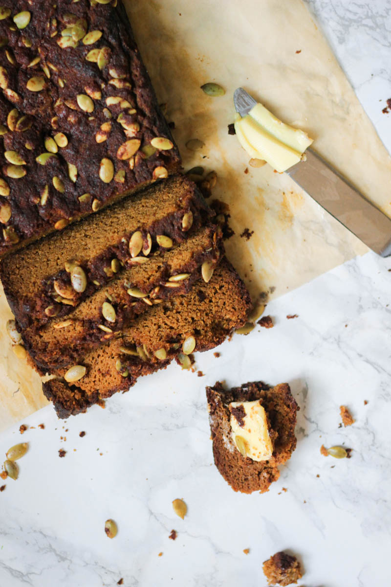 Grain Free & Paleo Blender Pumpkin Bread