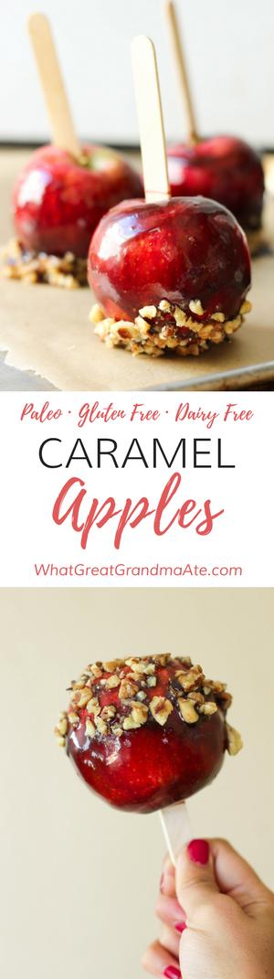 Paleo Caramel Apples (Dairy Free, Gluten Free Dessert)