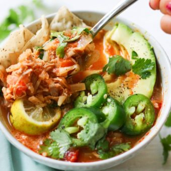 Instant Pot or Slow Cooker Paleo Buffalo Chicken Chili