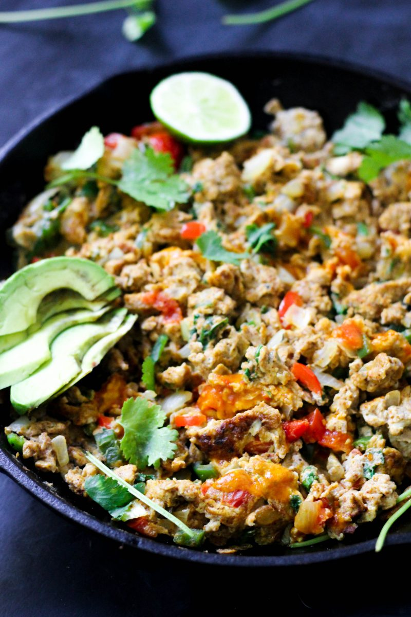 Paleo Mexican Scrambled Eggs