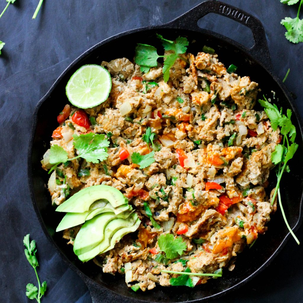 Paleo Mexican Scrambled Eggs - easy whole30 meals