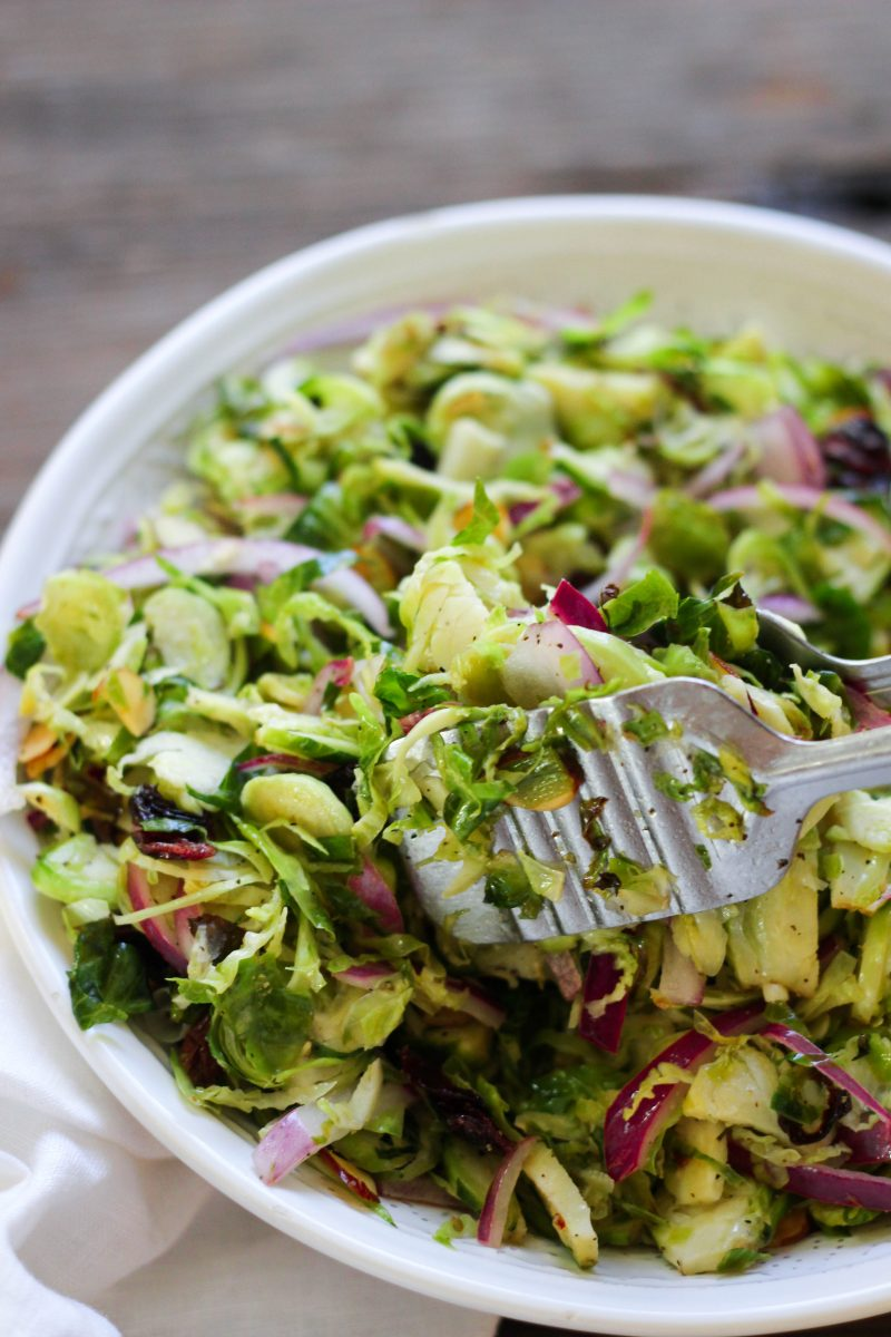 Paleo Roasted Brussels Sprouts Salad