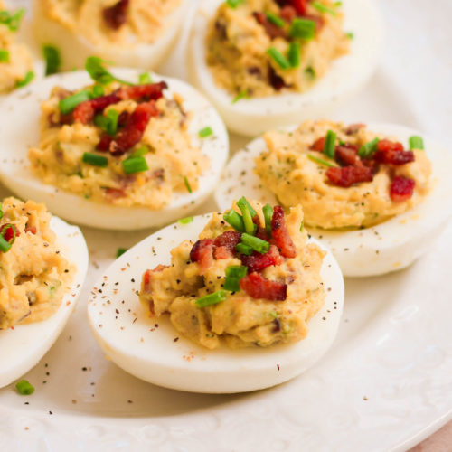 Bacon Ranch Deviled Eggs (Paleo, Whole30, Keto)