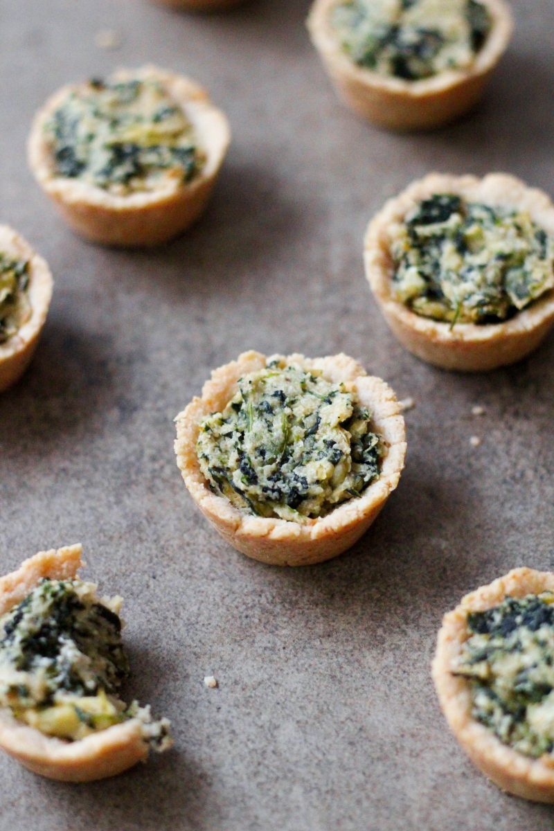 Gluten Free Paleo Spinach and Artichoke Cups