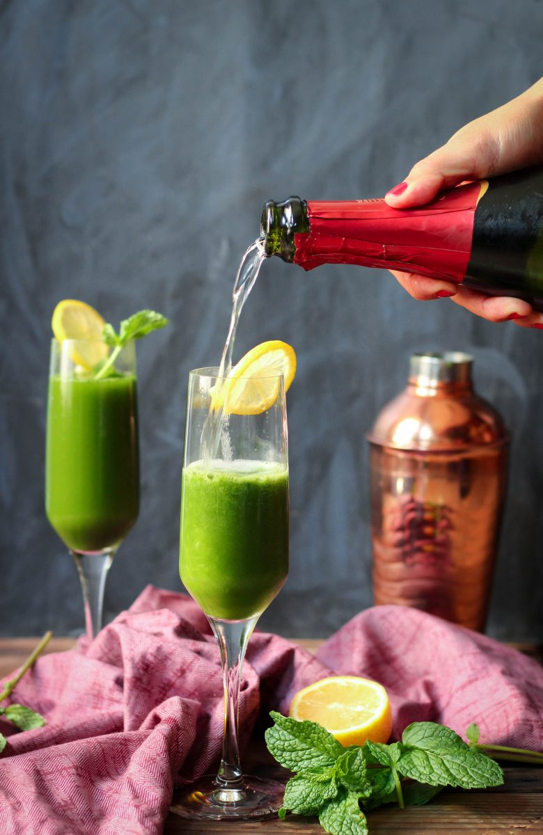 Lemon Mint Matcha Champagne