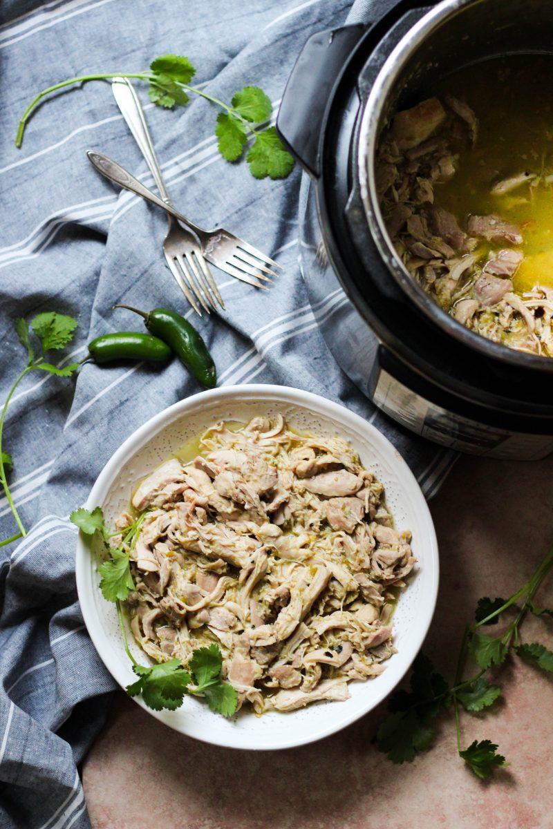 Slow Cooker or Instant Pot Salsa Verde Chicken
