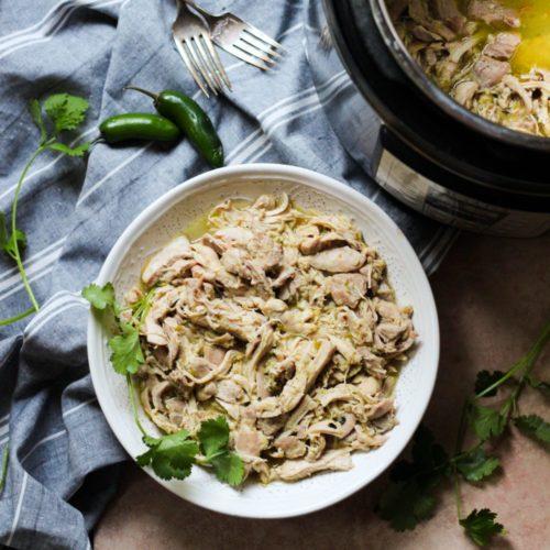 3-Ingredient Slow Cooker or Instant Pot Salsa Verde Chicken