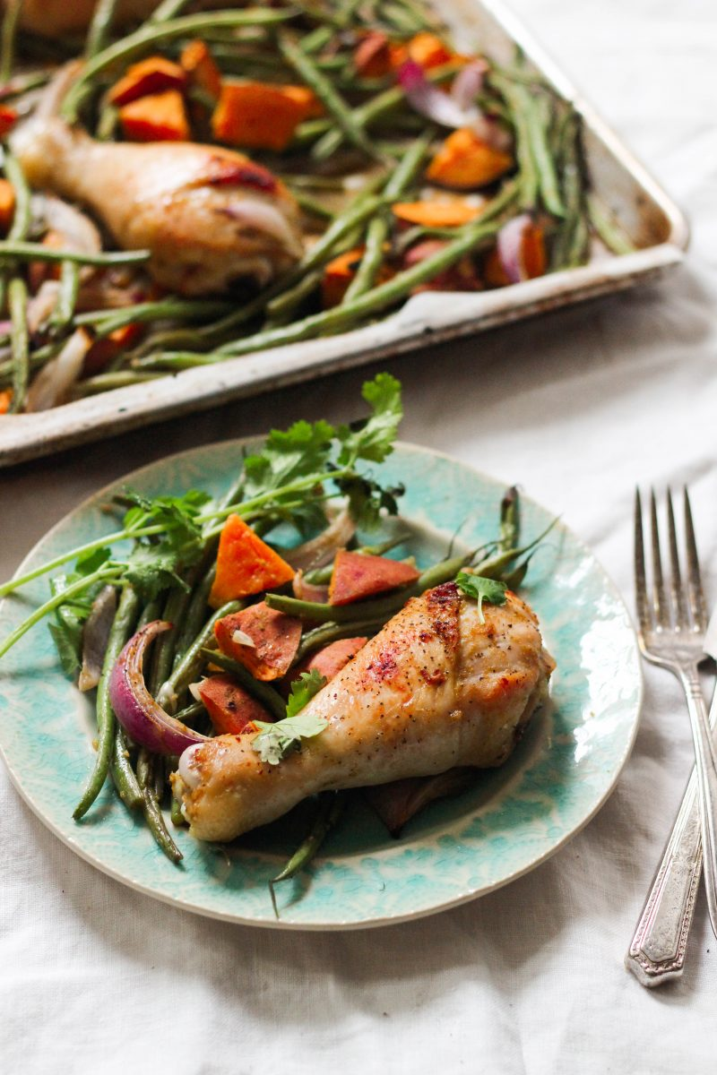 Thai Green Curry Paleo Sheet Pan Chicken and Vegetables