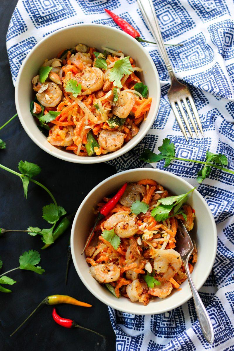 Gluten Free Paleo Shrimp Pad Thai