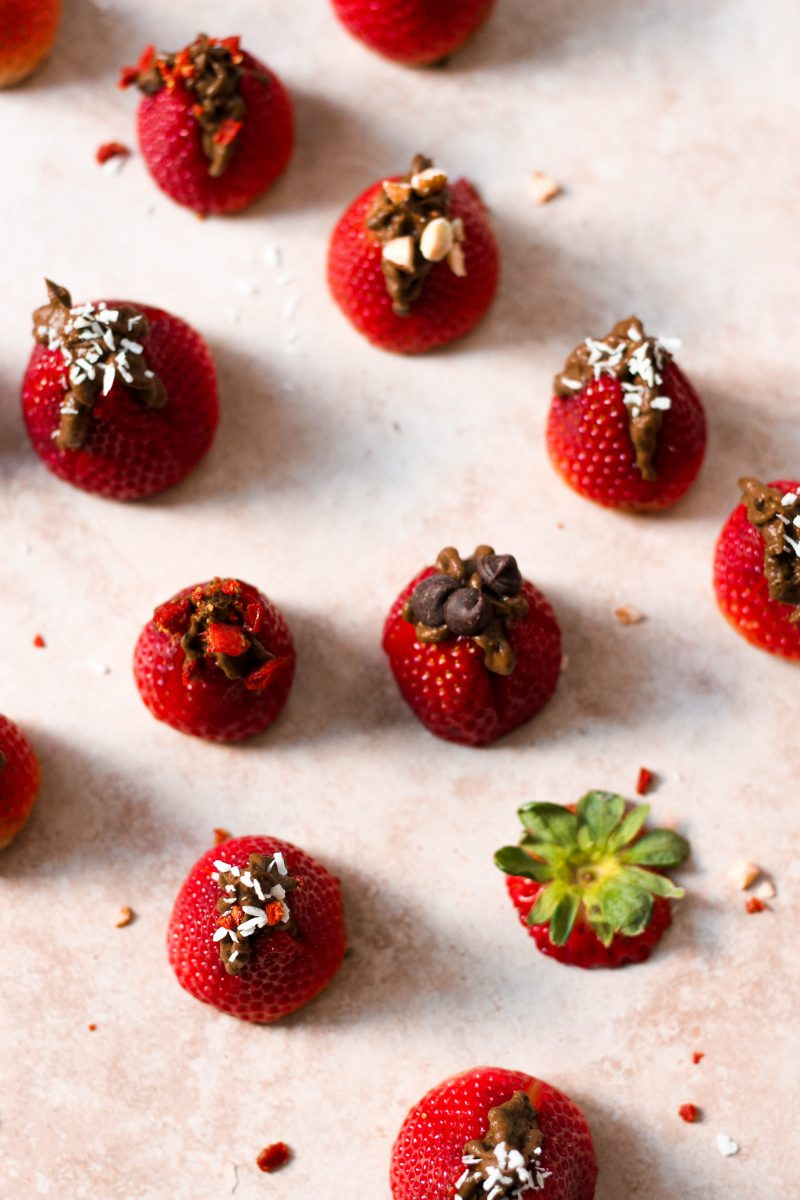 Paleo Chocolate Mousse Stuffed Strawberries