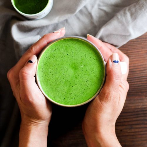 Dairy Free Matcha Latte (No Whisk Needed, Easy Clean Up)