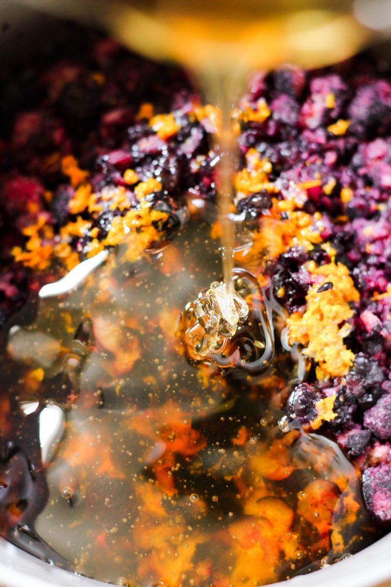 Orange Blueberry Jam without Pectin
