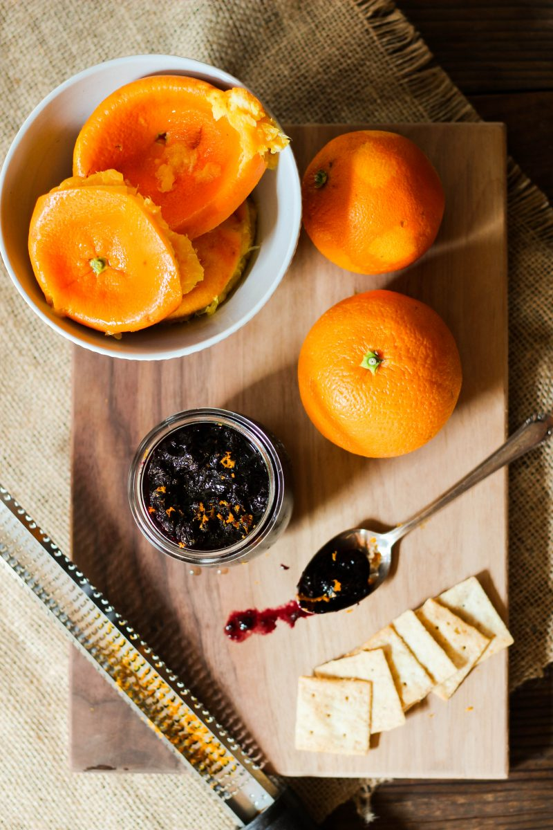 Orange Blueberry Jam without Pectin