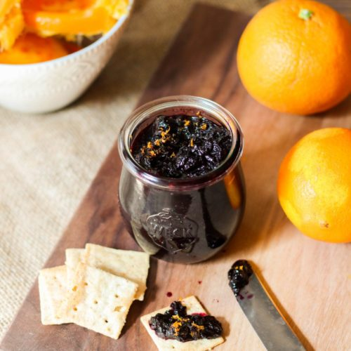 Paleo Orange Blueberry Jam without Pectin (AIP)