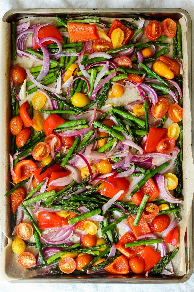 Roasted Greek Salad Paleo Whole30 Vegan
