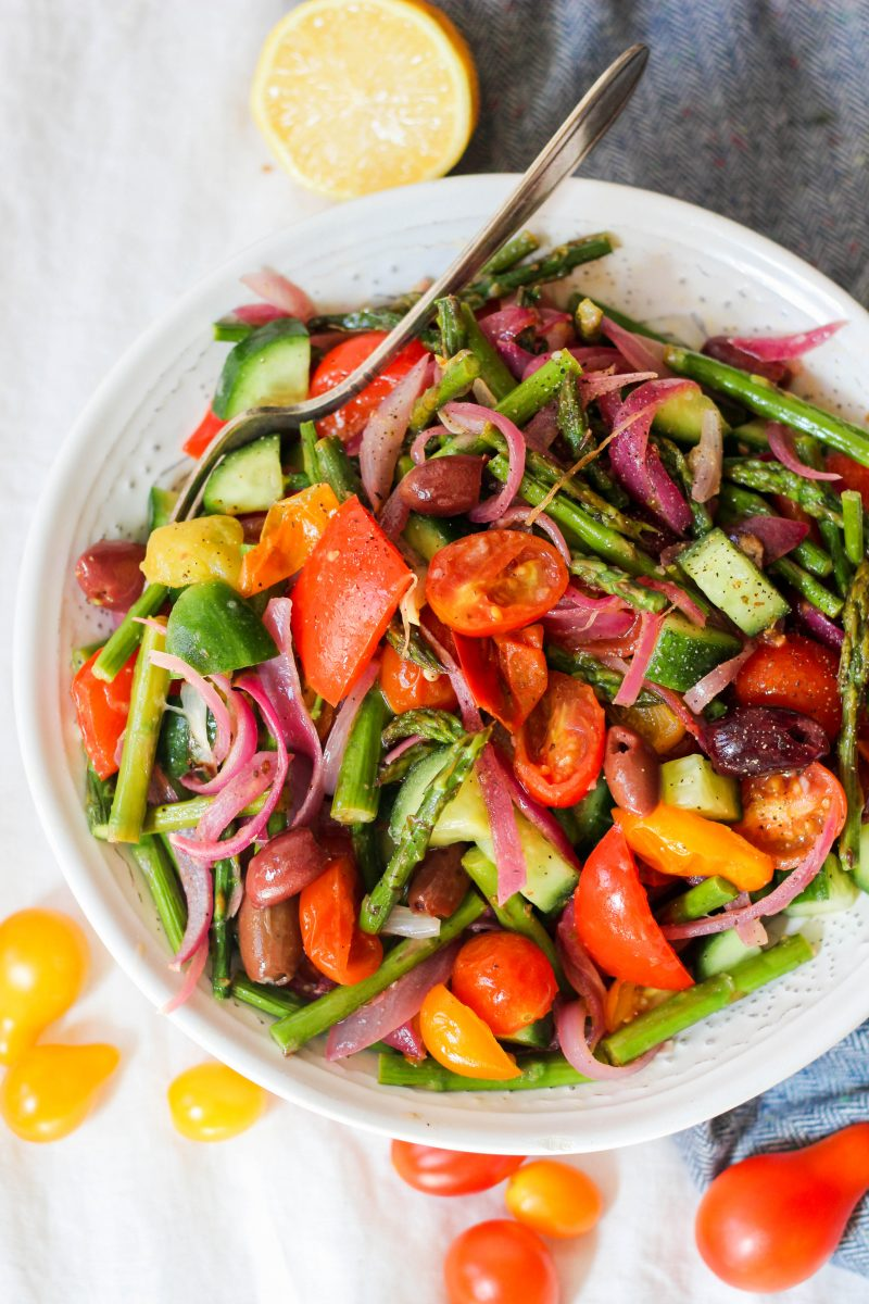 Roasted Greek Salad Paleo Whole30 Vegan