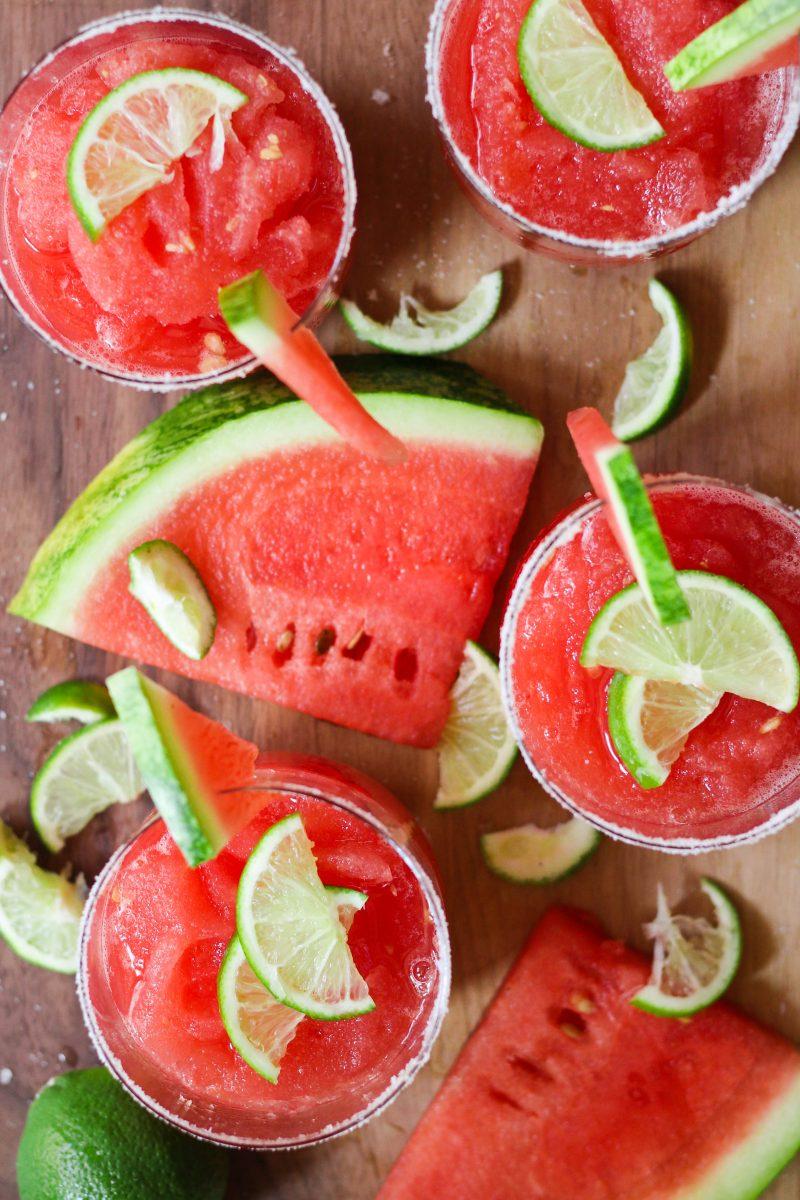 Paleo Watermelon Margarita Slushie