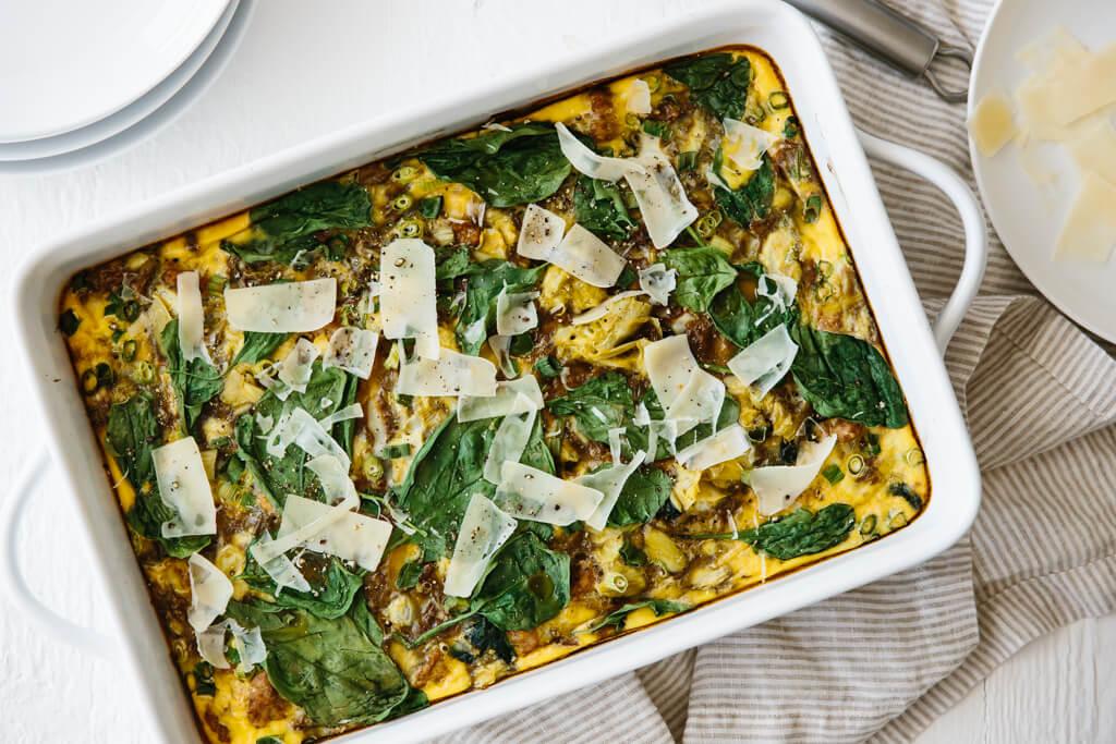 Healthy Breakfast Casserole by Downshiftology