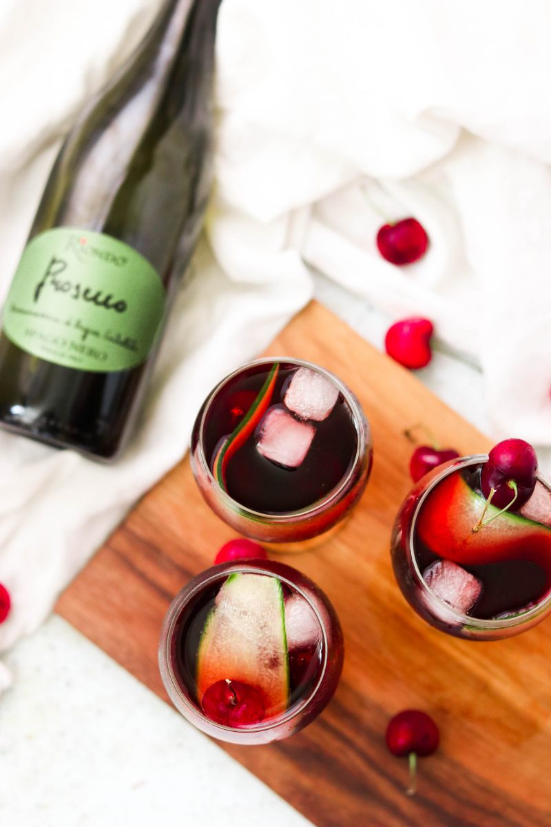 Cherry Cucumber Prosecco Spritz