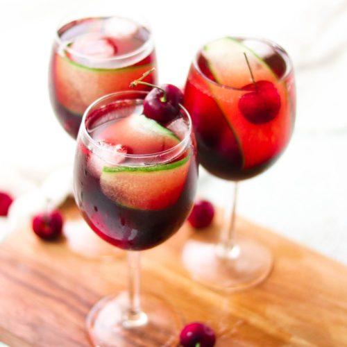 Cherry Cucumber Prosecco Spritz (Paleo, Vegan, Gluten Free)
