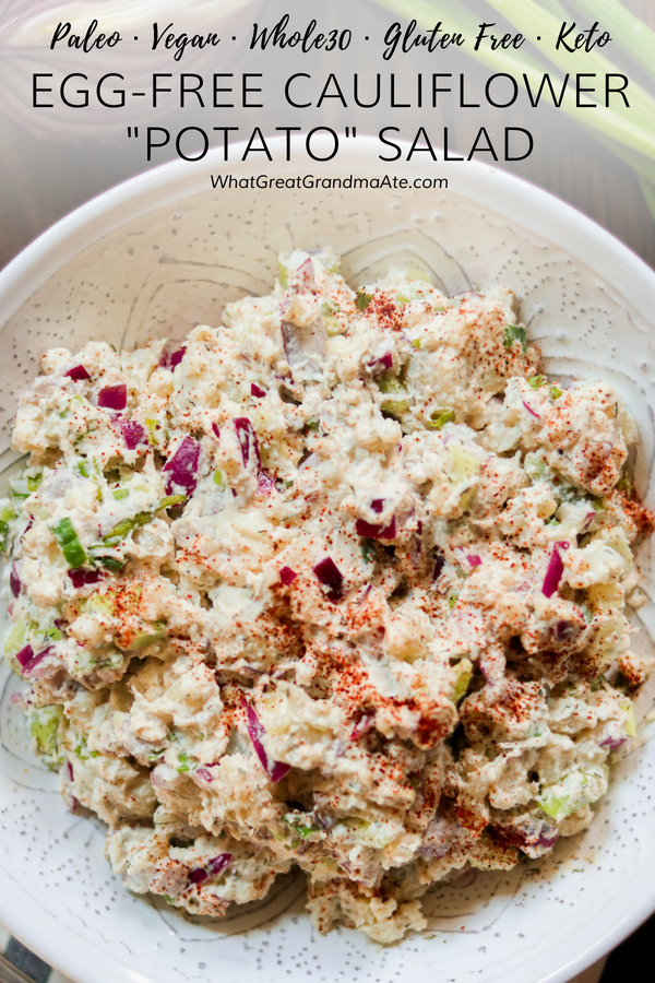 If you are looking for a low carb way to enjoy your potato salad, look no further than this Cauliflower Potato Salad (or