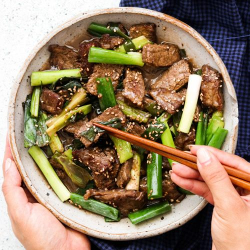 Whole30 Mongolian Beef (Paleo, Keto, AIP Option)
