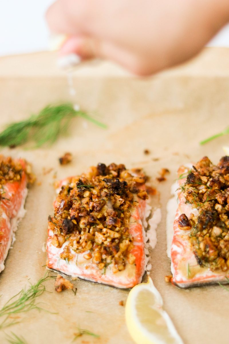 Walnut Crusted Alaska Salmon