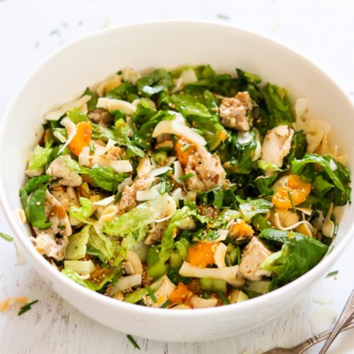 Paleo & Whole30 Mandarin Chicken Salad with Coconut Chips