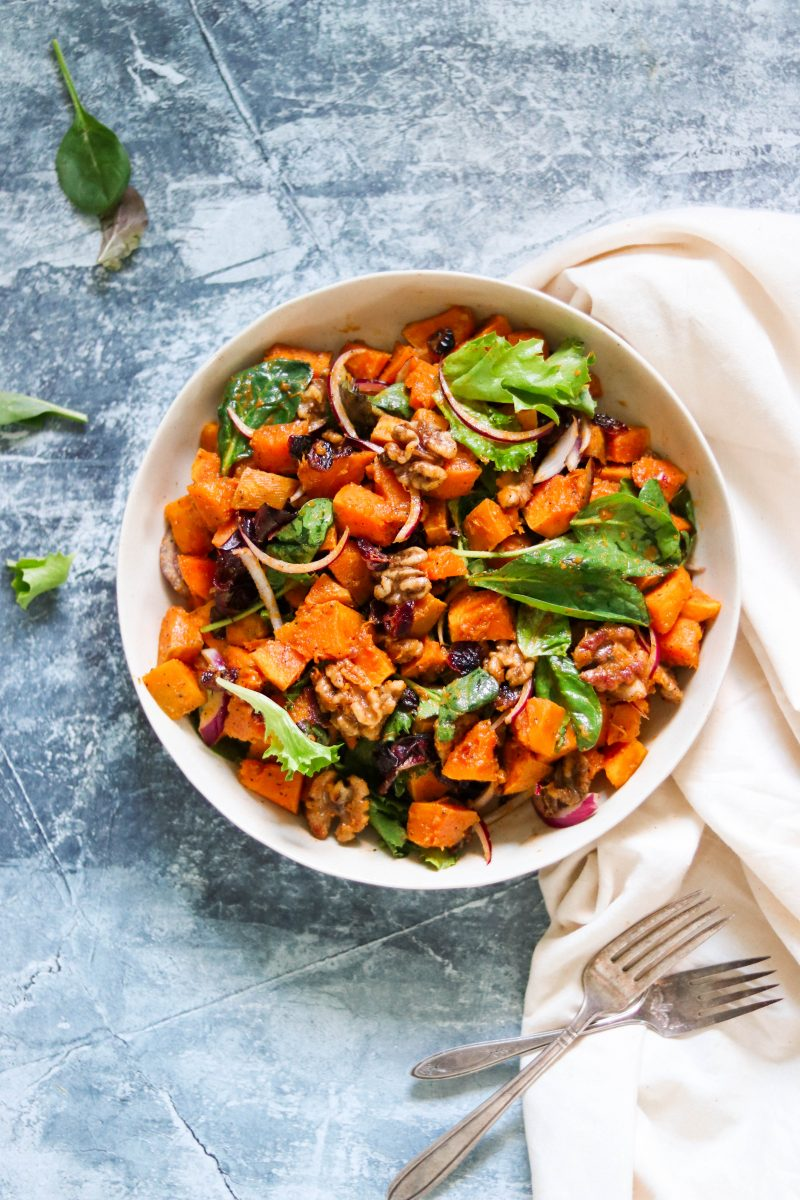 Whole30 Roasted Squash Salad