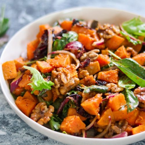 Whole30 Roasted Squash Salad (Paleo, Vegan)