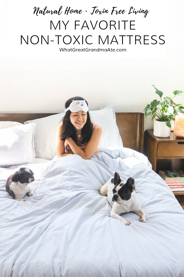 After much research, learn how and why I picked my favorite non-toxic mattress that is not only natural and free of harmful chemicals, but also extremely comfortable and relieved me of back pain! #naturalhome #nontoxic #toxinfree #toxinfreehome #toxinfreeliving #healthyhome #toxinfreemattress