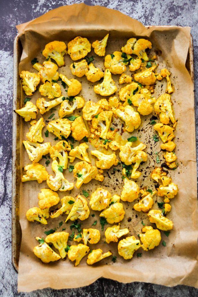 Lemon Turmeric Roasted Cauliflower