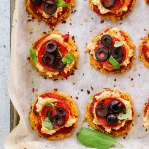 Sweet Potato Pizza Bites (Paleo, Whole30) – Make Spider Toppings for Halloween!