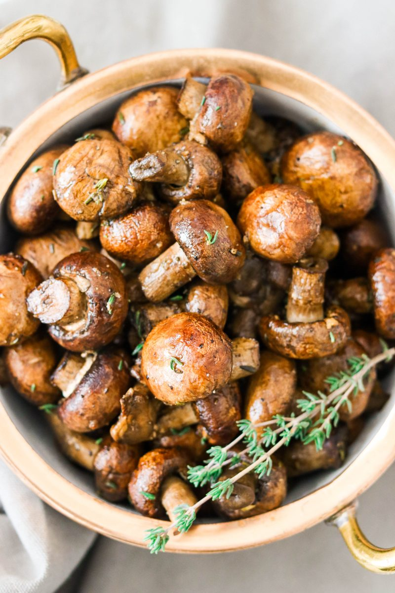 Balsamic Garlic Roasted Mushrooms