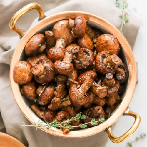 Balsamic Garlic Roasted Mushrooms (Paleo, Whole30, Keto, AIP, Vegan)