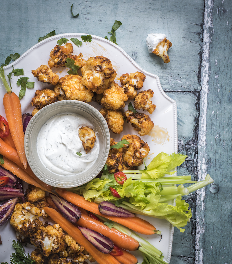 Air Fryer Buffalo Cauli-Bites