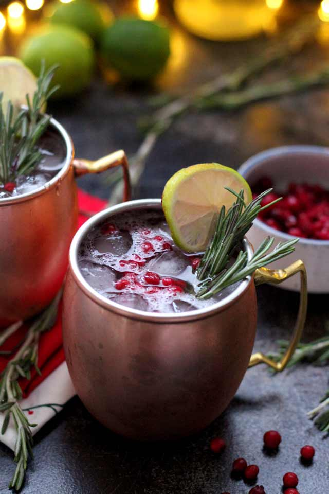 Low Sugar Cocktails (Cranberry Moscow Mule)