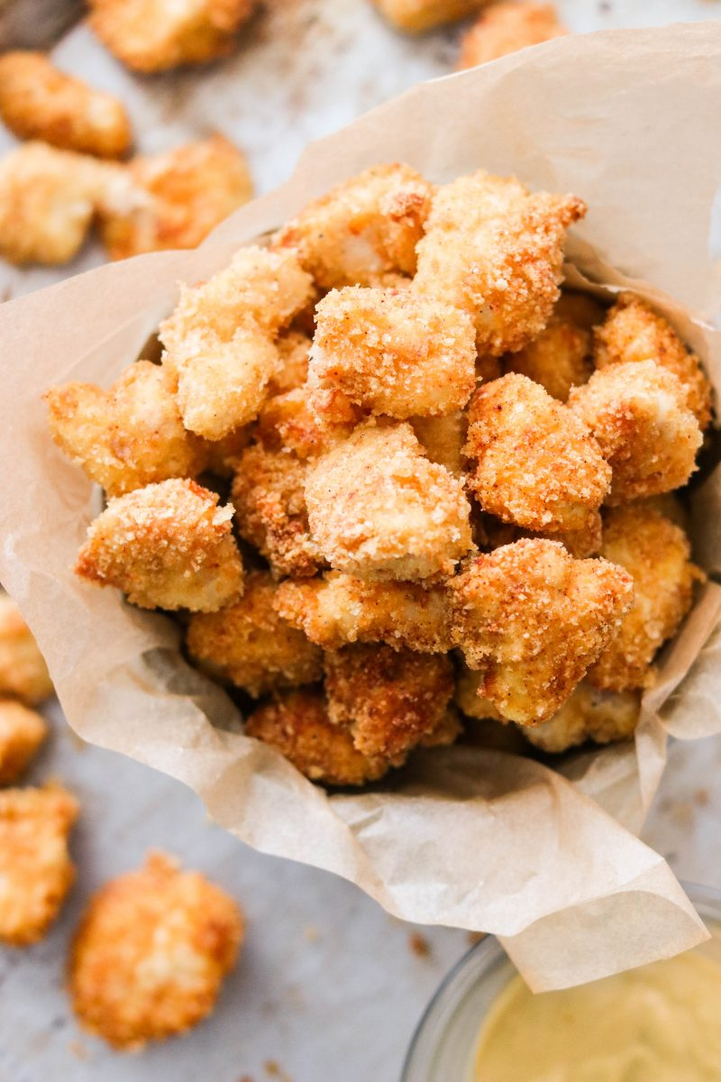 Air Fryer Keto Popcorn Chicken