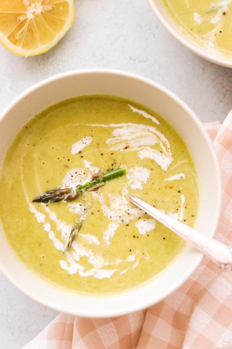 Whole30 Asparagus Soup