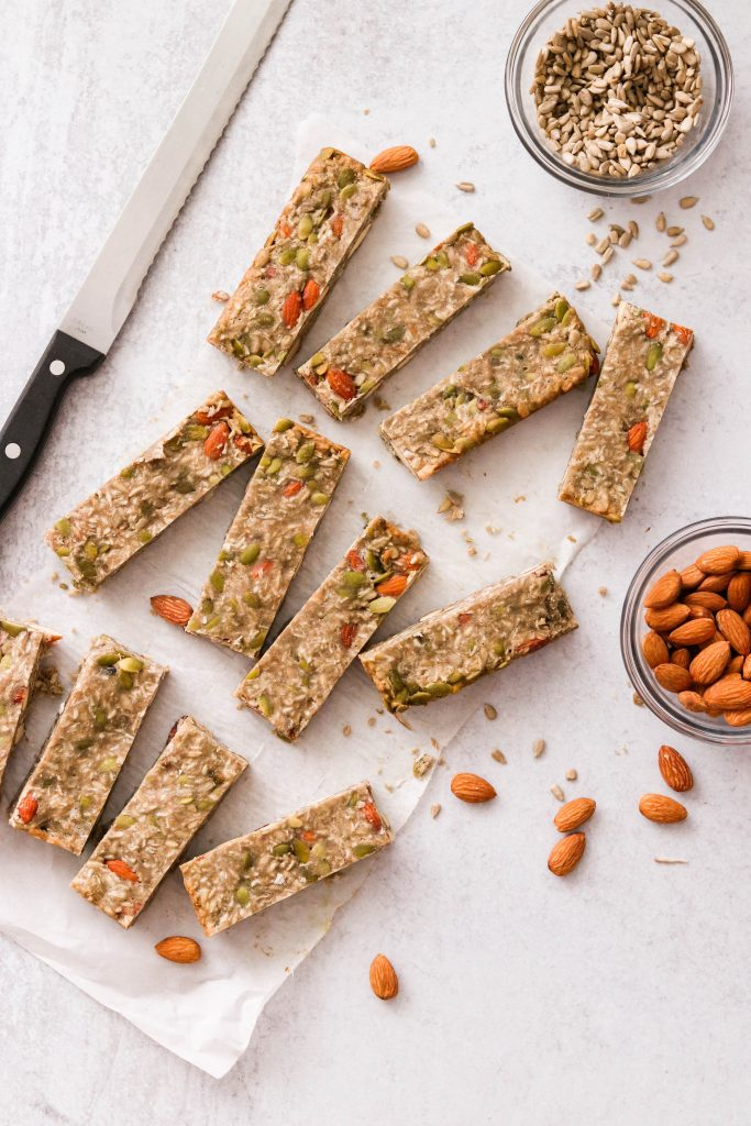 sliced low carb protein bars