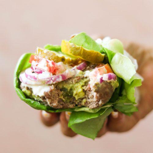 Guacamole Stuffed Burgers (Paleo, Whole30, Keto, AIP Option)