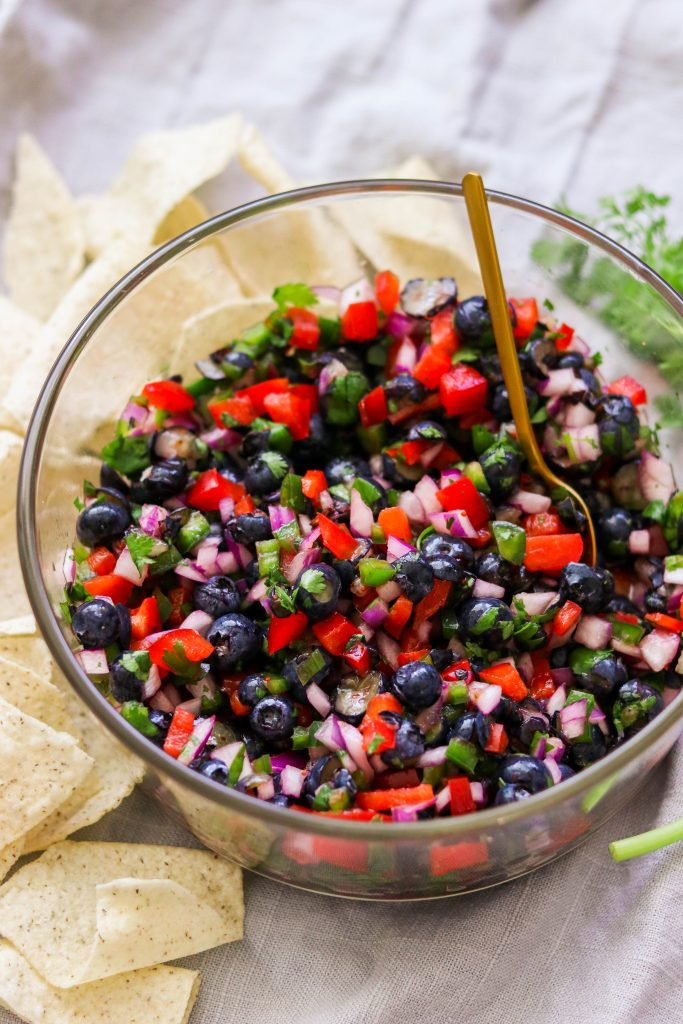 fresh ingredients for a whole30 compliant salsa
