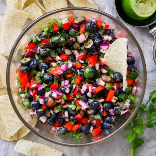 Refreshing Blueberry Salsa (Paleo, Whole30, Low Carb, Vegan)